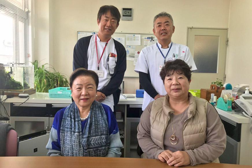 広島県看護連盟会長、福山府中支部長が来院されました